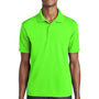 Sport-Tek Mens RacerMesh Moisture Wicking Short Sleeve Polo Shirt - Neon Green