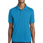 Sport-Tek Mens RacerMesh Moisture Wicking Short Sleeve Polo Shirt - Pond Blue