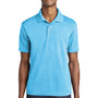 Sport-Tek Mens RacerMesh Moisture Wicking Short Sleeve Polo Shirt - Heather Pond Blue