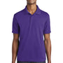 Sport-Tek Mens RacerMesh Moisture Wicking Short Sleeve Polo Shirt - Purple