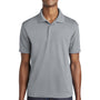Sport-Tek Mens RacerMesh Moisture Wicking Short Sleeve Polo Shirt - Silver Grey