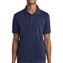 Sport-Tek Mens RacerMesh Moisture Wicking Short Sleeve Polo Shirt - True Navy Blue