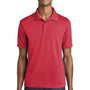 Sport-Tek Mens RacerMesh Moisture Wicking Short Sleeve Polo Shirt - True Red