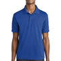 Sport-Tek Mens RacerMesh Moisture Wicking Short Sleeve Polo Shirt - True Royal Blue