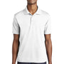 Sport-Tek Mens RacerMesh Moisture Wicking Short Sleeve Polo Shirt - White