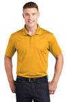 Sport-Tek ST650 Mens Sport-Wick Moisture Wicking Short Sleeve Polo Shirt Gold Front