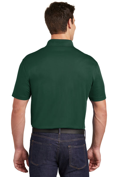 Sport-Tek ST651 Mens Sport-Wick Moisture Wicking Short Sleeve Polo Shirt w/ Pocket Forest Green Back