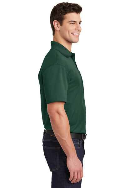 Sport-Tek ST651 Mens Sport-Wick Moisture Wicking Short Sleeve Polo Shirt w/ Pocket Forest Green Side