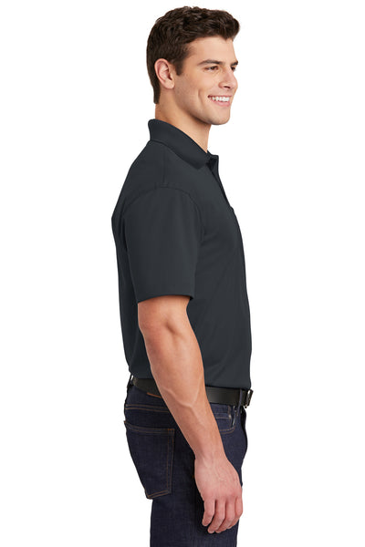 Sport-Tek ST651 Mens Sport-Wick Moisture Wicking Short Sleeve Polo Shirt w/ Pocket Iron Grey Side