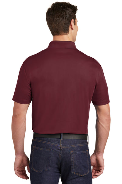 Sport-Tek ST651 Mens Sport-Wick Moisture Wicking Short Sleeve Polo Shirt w/ Pocket Maroon Back