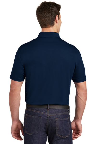 Sport-Tek ST651 Mens Sport-Wick Moisture Wicking Short Sleeve Polo Shirt w/ Pocket Navy Blue Back