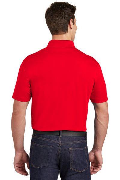 Sport-Tek ST651 Mens Sport-Wick Moisture Wicking Short Sleeve Polo Shirt w/ Pocket Red Back