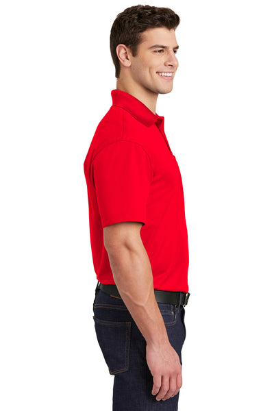 Sport-Tek ST651 Mens Sport-Wick Moisture Wicking Short Sleeve Polo Shirt w/ Pocket Red Side