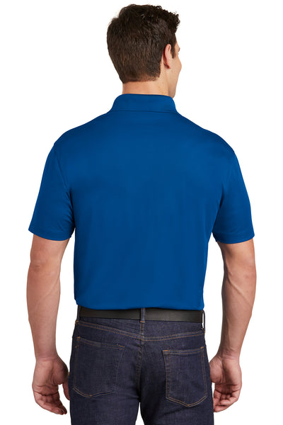 Sport-Tek ST651 Mens Sport-Wick Moisture Wicking Short Sleeve Polo Shirt w/ Pocket Royal Blue Back