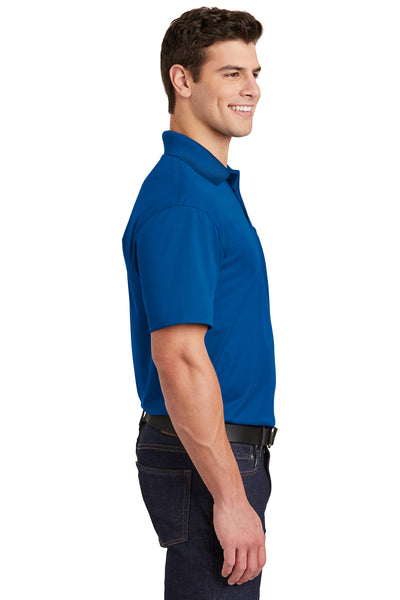Sport-Tek ST651 Mens Sport-Wick Moisture Wicking Short Sleeve Polo Shirt w/ Pocket Royal Blue Side