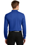Sport-Tek ST657 Mens Sport-Wick Moisture Wicking Long Sleeve Polo Shirt Royal Blue Back