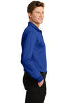 Sport-Tek ST657 Mens Sport-Wick Moisture Wicking Long Sleeve Polo Shirt Royal Blue Side