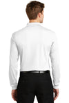 Sport-Tek ST657 Mens Sport-Wick Moisture Wicking Long Sleeve Polo Shirt White Back