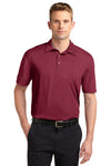 Sport-Tek ST660 Mens Heather Contender Moisture Wicking Short Sleeve Polo Shirt Cardinal Red Front