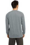 Sport-Tek ST700LS Mens Ultimate Performance Moisture Wicking Long Sleeve Crewneck T-Shirt Heather Grey Back