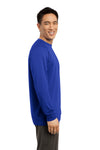 Sport-Tek ST700LS Mens Ultimate Performance Moisture Wicking Long Sleeve Crewneck T-Shirt Royal Blue Side