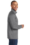 Sport-Tek ST850 Mens Sport-Wick Moisture Wicking 1/4 Zip Sweatshirt Heather Charcoal Grey Side