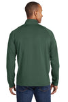 Sport-Tek ST850 Mens Sport-Wick Moisture Wicking 1/4 Zip Sweatshirt Forest Green Back