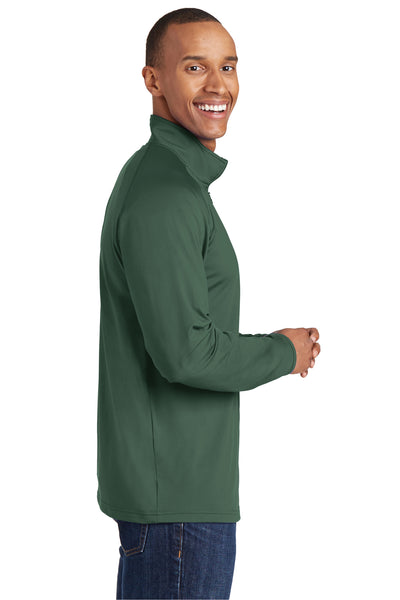Sport-Tek ST850 Mens Sport-Wick Moisture Wicking 1/4 Zip Sweatshirt Forest Green Side