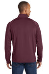 Sport-Tek ST850 Mens Sport-Wick Moisture Wicking 1/4 Zip Sweatshirt Maroon Back