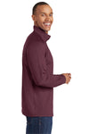 Sport-Tek ST850 Mens Sport-Wick Moisture Wicking 1/4 Zip Sweatshirt Maroon Side