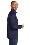 Sport-Tek ST850 Mens Sport-Wick Moisture Wicking 1/4 Zip Sweatshirt Navy Blue Side