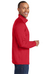 Sport-Tek ST850 Mens Sport-Wick Moisture Wicking 1/4 Zip Sweatshirt Red Side