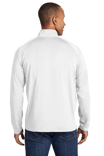 Sport-Tek ST850 Mens Sport-Wick Moisture Wicking 1/4 Zip Sweatshirt White Back