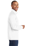 Sport-Tek ST850 Mens Sport-Wick Moisture Wicking 1/4 Zip Sweatshirt White Side