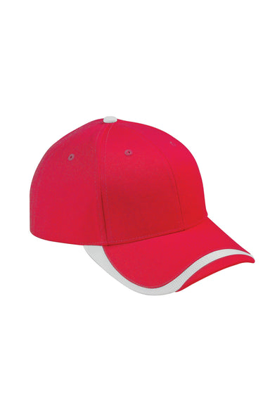 Big Accessories SWTB Mens Sport Wave Adjustable Hat Red Front