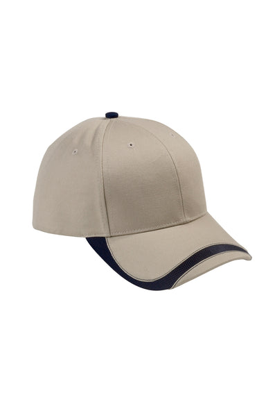 Big Accessories SWTB Mens Sport Wave Adjustable Hat Khaki Brown Front