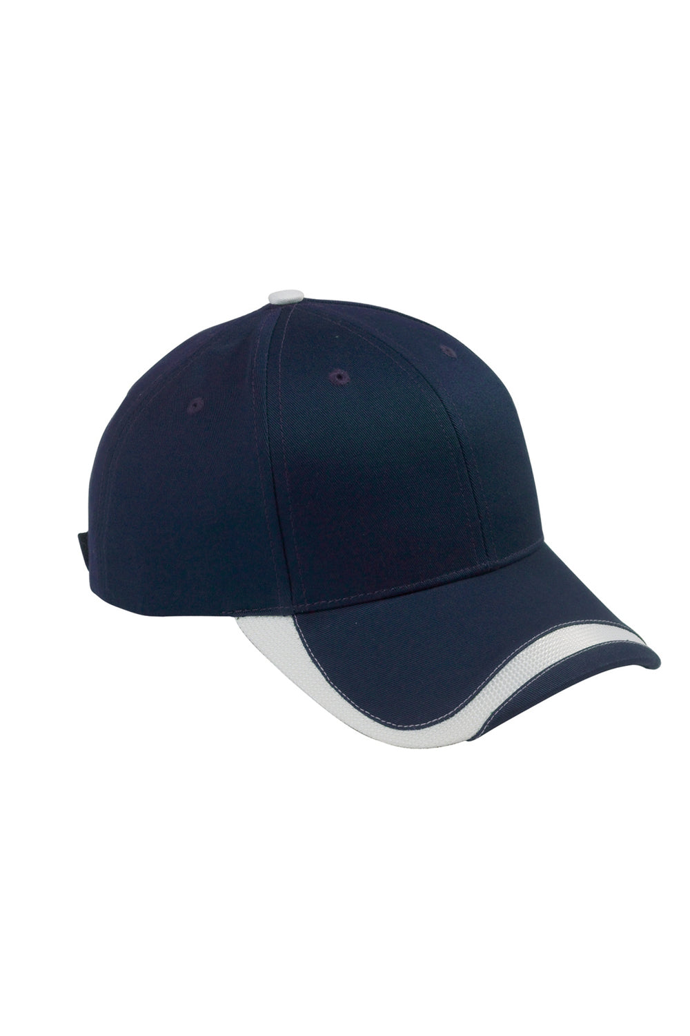 Big Accessories SWTB Mens Sport Wave Adjustable Hat Navy Blue Front