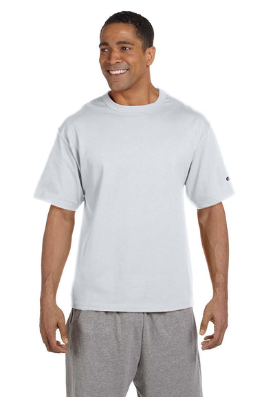 Champion T2102 Mens Heritage Short Sleeve Crewneck T-Shirt Silver Grey Front