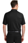 Sport-Tek T475 Mens Dry Zone Moisture Wicking Short Sleeve Polo Shirt Black Back