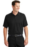 Sport-Tek T475 Mens Dry Zone Moisture Wicking Short Sleeve Polo Shirt Black Front