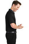 Sport-Tek T475 Mens Dry Zone Moisture Wicking Short Sleeve Polo Shirt Black Side