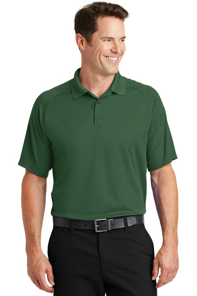 Sport-Tek T475 Mens Dry Zone Moisture Wicking Short Sleeve Polo Shirt Forest Green Front