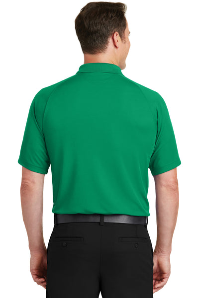 Sport-Tek T475 Mens Dry Zone Moisture Wicking Short Sleeve Polo Shirt Kelly Green Back
