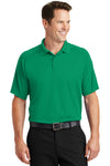 Sport-Tek T475 Mens Dry Zone Moisture Wicking Short Sleeve Polo Shirt Kelly Green Front