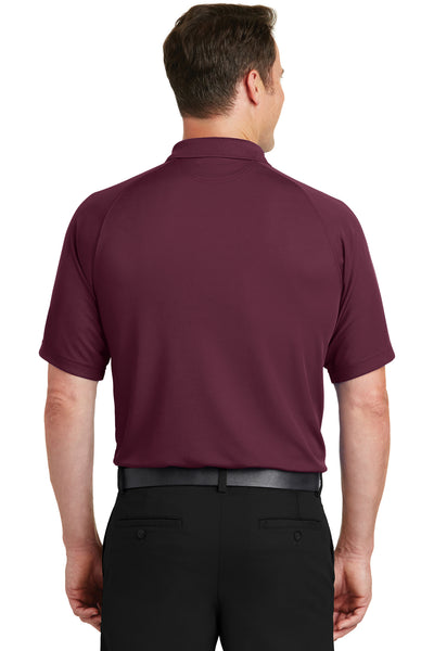 Sport-Tek T475 Mens Dry Zone Moisture Wicking Short Sleeve Polo Shirt Maroon Back