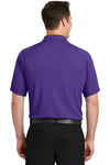 Sport-Tek T475 Mens Dry Zone Moisture Wicking Short Sleeve Polo Shirt Purple Back
