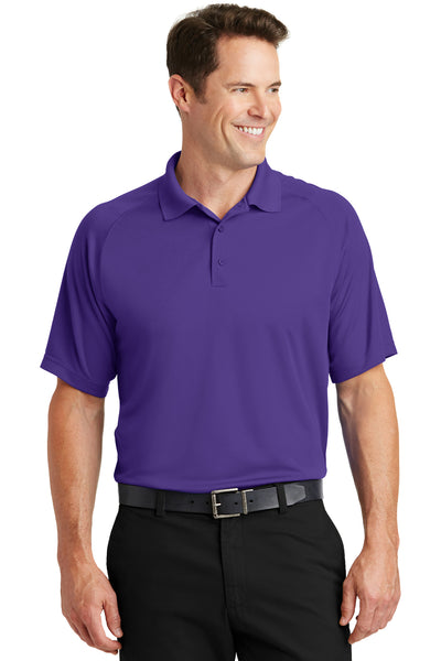 Sport-Tek T475 Mens Dry Zone Moisture Wicking Short Sleeve Polo Shirt Purple Front
