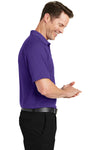 Sport-Tek T475 Mens Dry Zone Moisture Wicking Short Sleeve Polo Shirt Purple Side