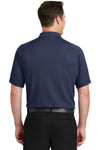 Sport-Tek T475 Mens Dry Zone Moisture Wicking Short Sleeve Polo Shirt Navy Blue Back