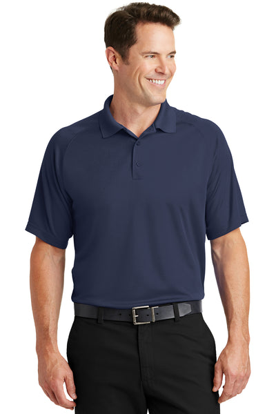 Sport-Tek T475 Mens Dry Zone Moisture Wicking Short Sleeve Polo Shirt Navy Blue Front